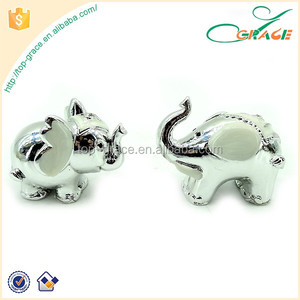 2016 silver plated souvenir cartoon animals plated silver elephant