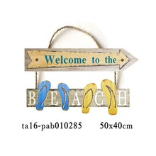 Marine nautical beach decoration MDF material waterproof open wood signs factory direct
