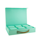 Custom Flip Lid Clamshell Box, Gift Packaging Boxes, Magnetic Box with PP Handle