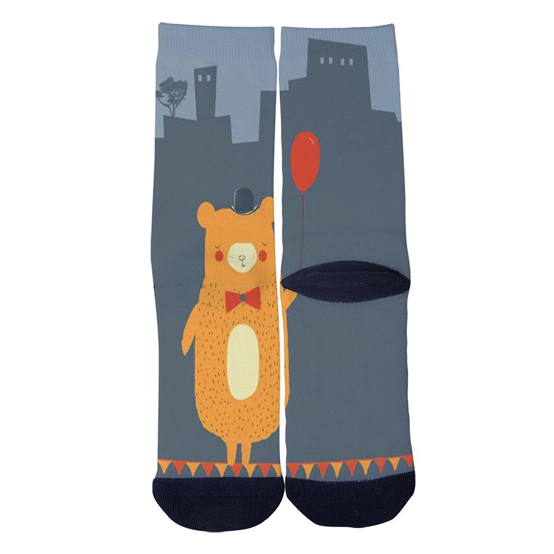 Bear Print Socks AlyGoo 3D Print Funny Custom Crew Casual Socks
