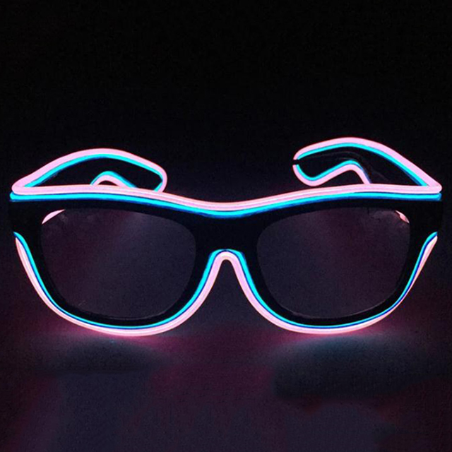 Event & Party Home & Garden Colorful Fashion El Wire Fashion Led Neon Lighting Flash Shutter Shaped Glasses With 3v Inverter For Festival Party Decoration Suitable For Men And Women Of All Ages In All Seasons