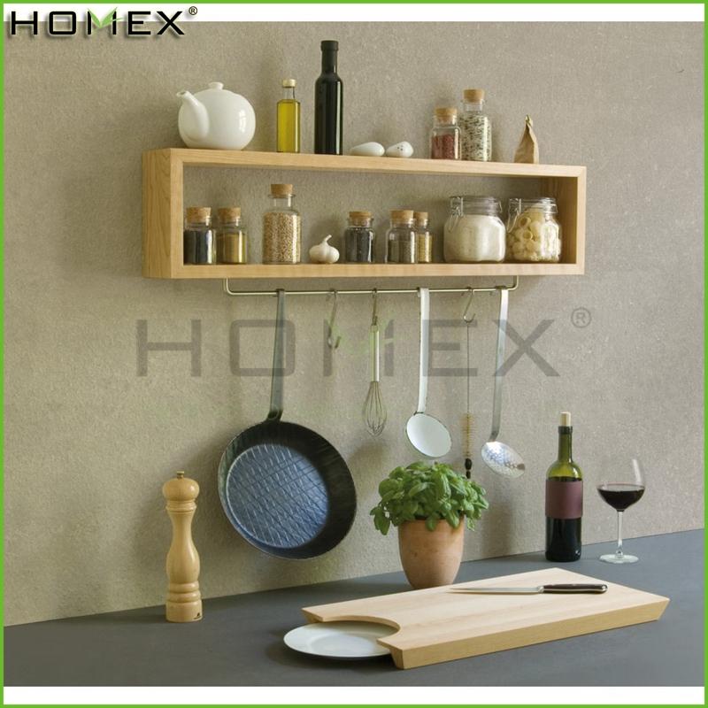 Houten kruidenrek keuken spice plank homex bsci opslag houders en rekken product id 60394864628 - Plank keuken opslag ...