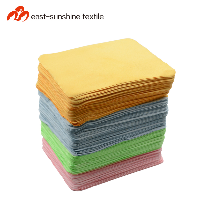 80 polyester 20 polyamide microfiber glasses cloth with custom printed logo