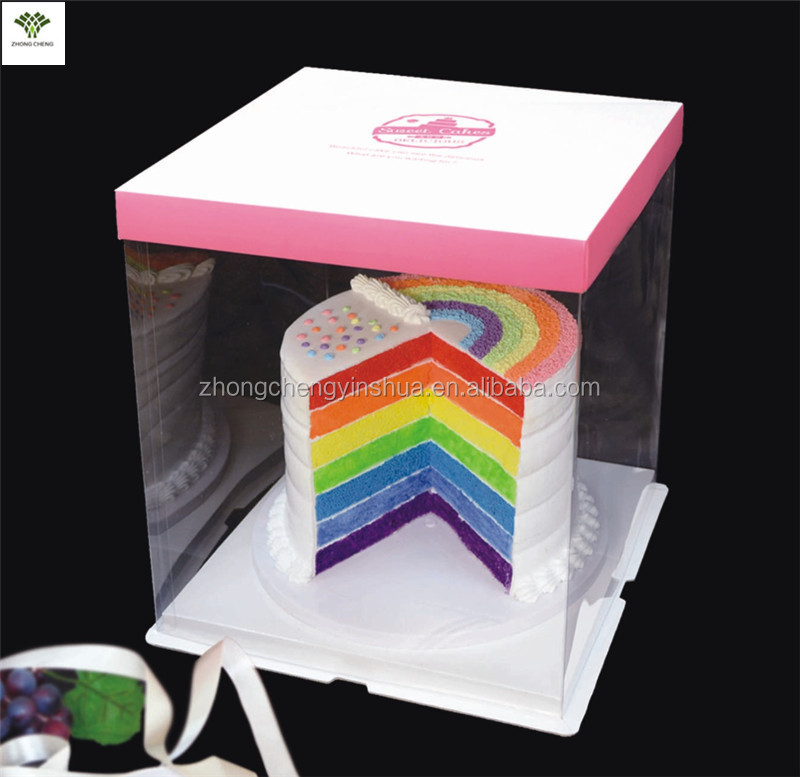 Tall Cake Box Clear Plastic Cake Boxes Personalized Handmade Birthday Wedding Cake Boxes