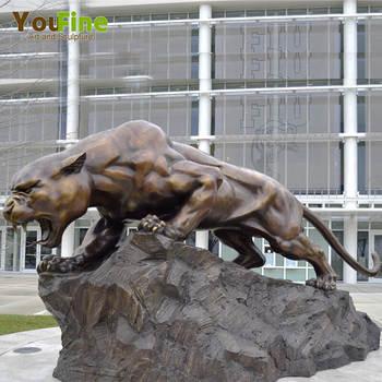 Garden Decorative Bronze Life Size Panther Statue