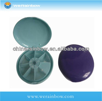 hot sale 7 case round cabinet pill box
