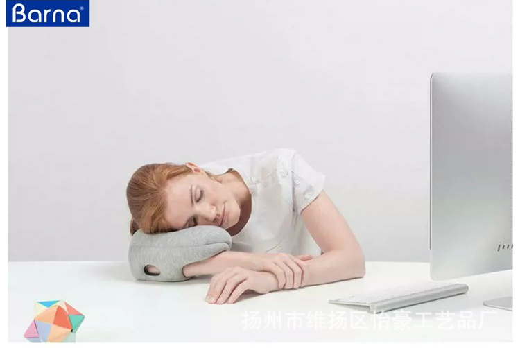 sleep rest ostrich pillow hand fashion PU arm pillow for sleeping napping special arm wearable head pillow