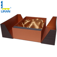 Luxury Special Paper Double Doors Opened Cardboard Packaging Gift Box with Ribbon Tray