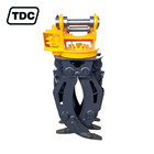 Cheap 20tons excavator electric hydraulic rotating log grapple forest firewood grapple attachment