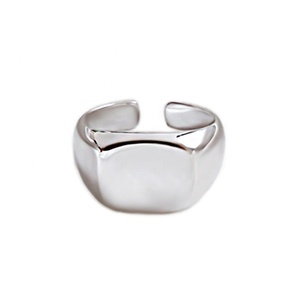 Simple Open Stamp ring 925 silver sterling