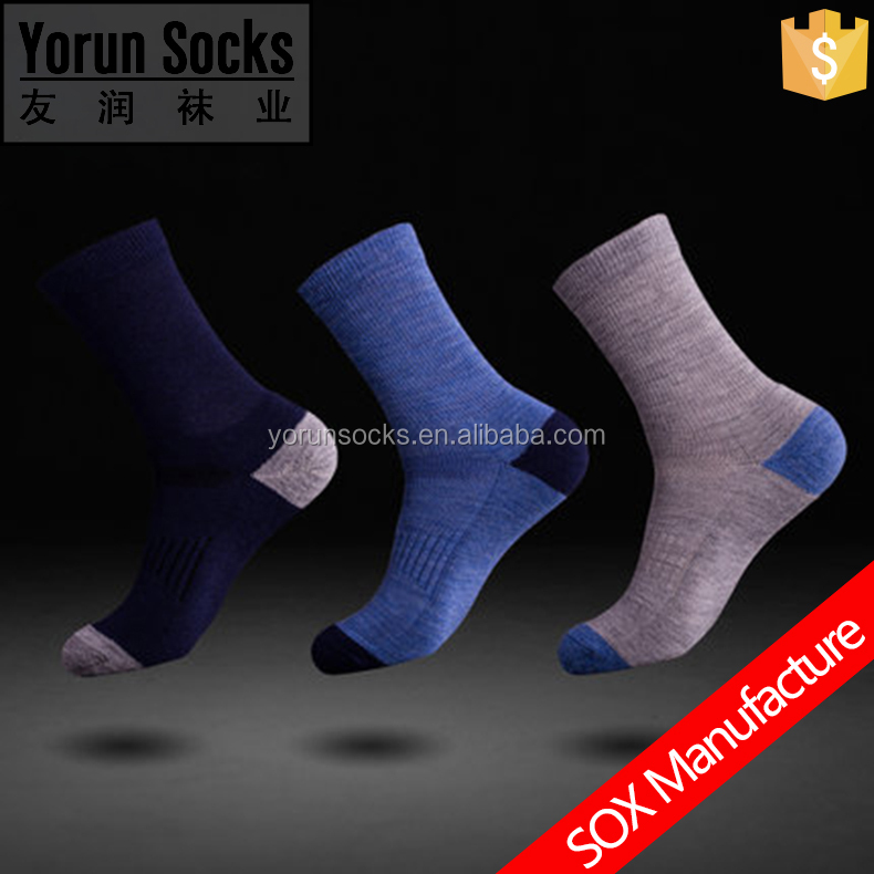 Wool warming skiing / hiking / mountain climbing terry cushion compression sock