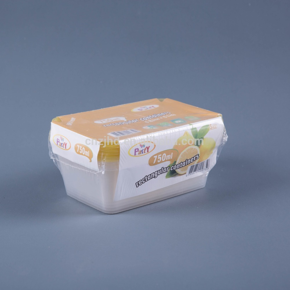 Finely Processed plastic storage insulated food containers with shrink package