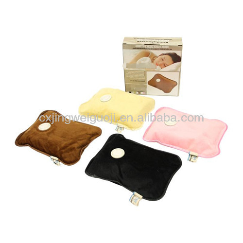 pillow shape electric rechargeable heat pack hand warmer medical hot water bottle