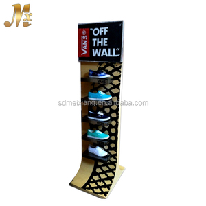 MX-WCL023 Custom mdf wood store display shoe / shoe store display racks for shop