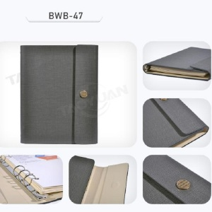 Office stationery A5 leather organizer book ring binder