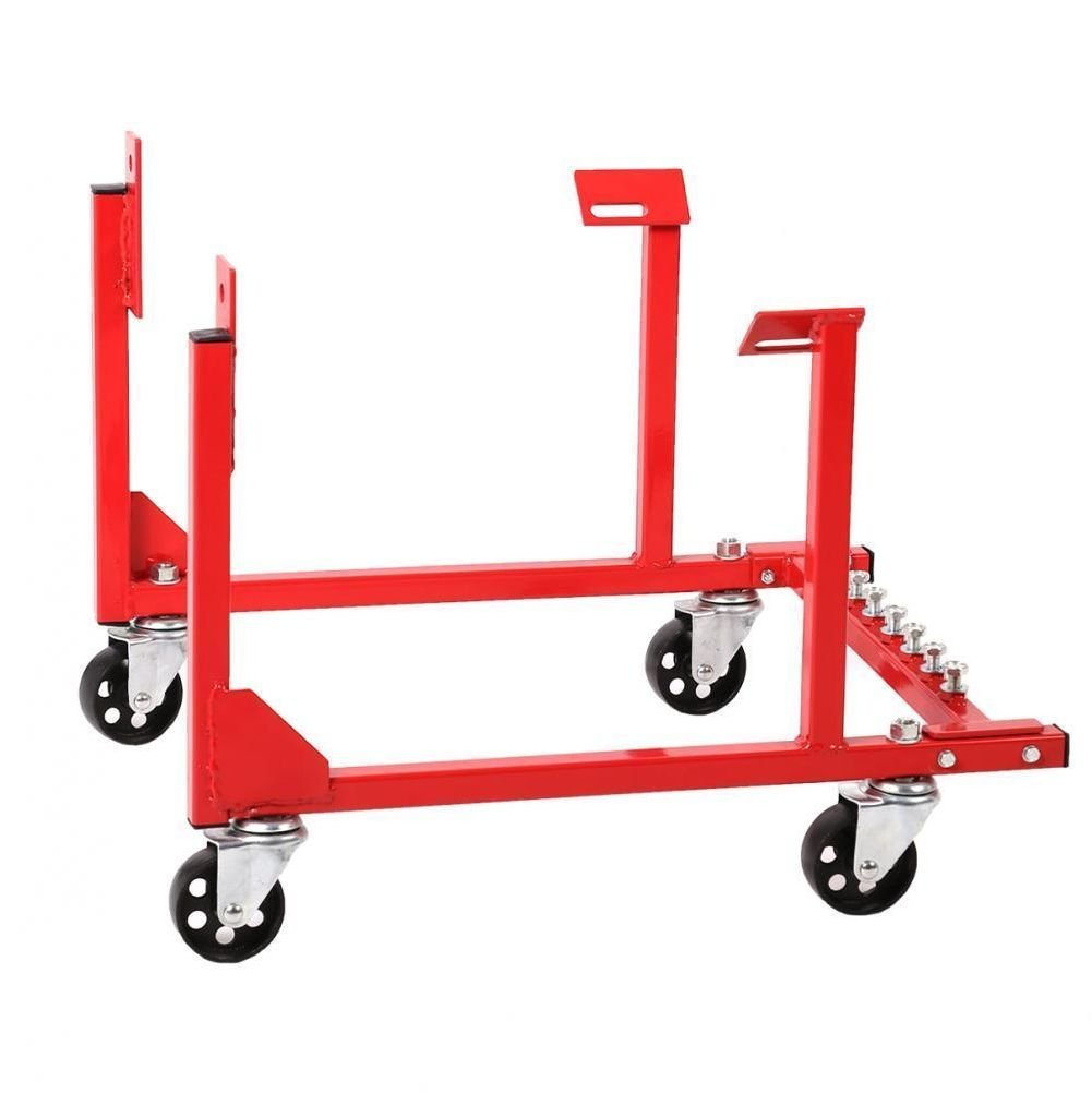 Wakoola New 1000lb Engine Cradle Stand Chevrolet Chevy Chrysler with Dolly Wheels EC10