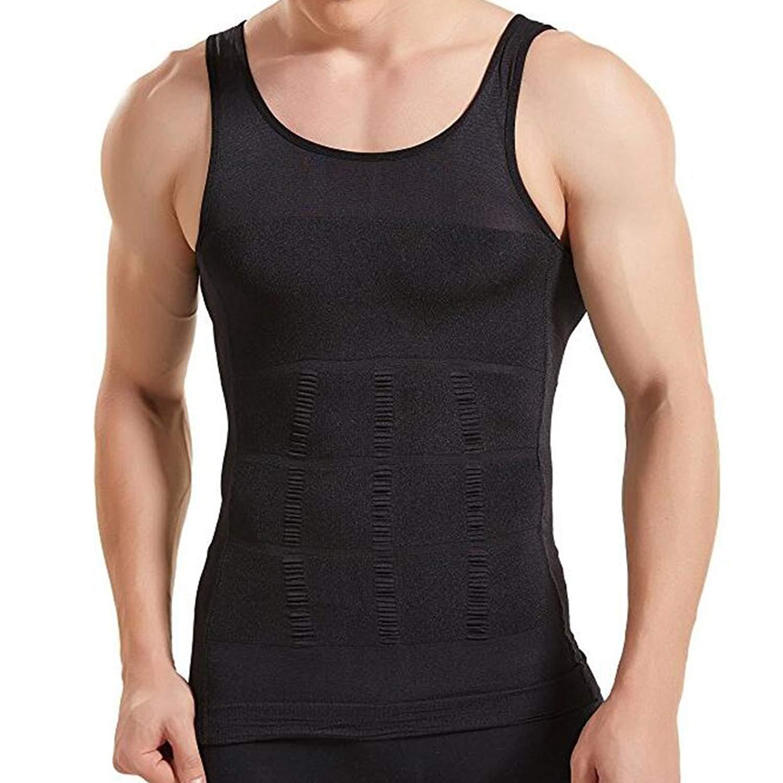 b7fa6a14d ZUEVI Mens Slimming Body Shaper Vest Compression Tank Tops Elastic Shapewear