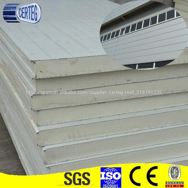 Material De Panel Sandwich De Pu Para Casas Prefabricadas De