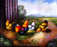 Home Decoration Canvas the chicken family ct-134 Oil Painting