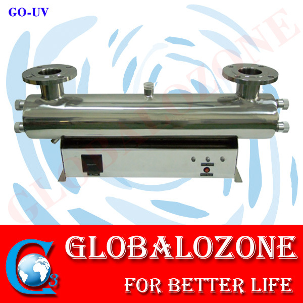 Submerged uv disinfection unit for water purifier with long lifetime ultraviolet lamps