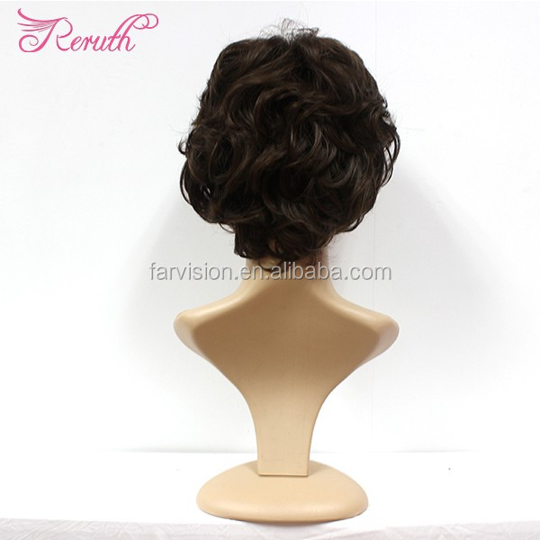 cheap short female wig fashion hair cuts natural black color bob wig