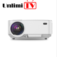 [Smart Projector TV]Hot selling small portable HD LED video android wifi smartphone lcd film projector home cinema proyector