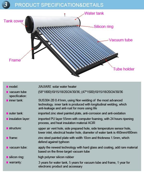 Low Price Good Quality Low Pressure Vacuum Tube20 Solar