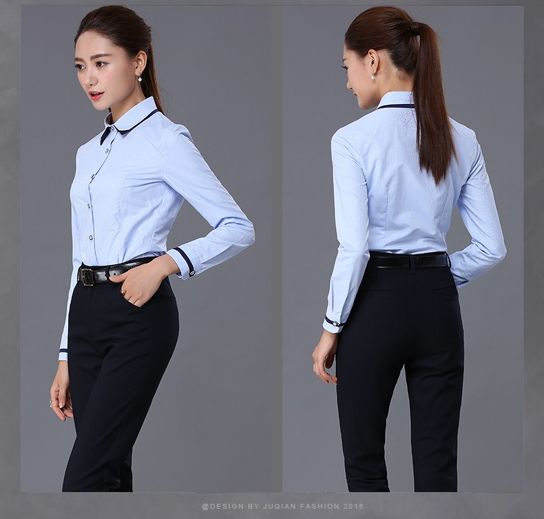 Custom factory price discount office uniform designs for for Bureau uniform