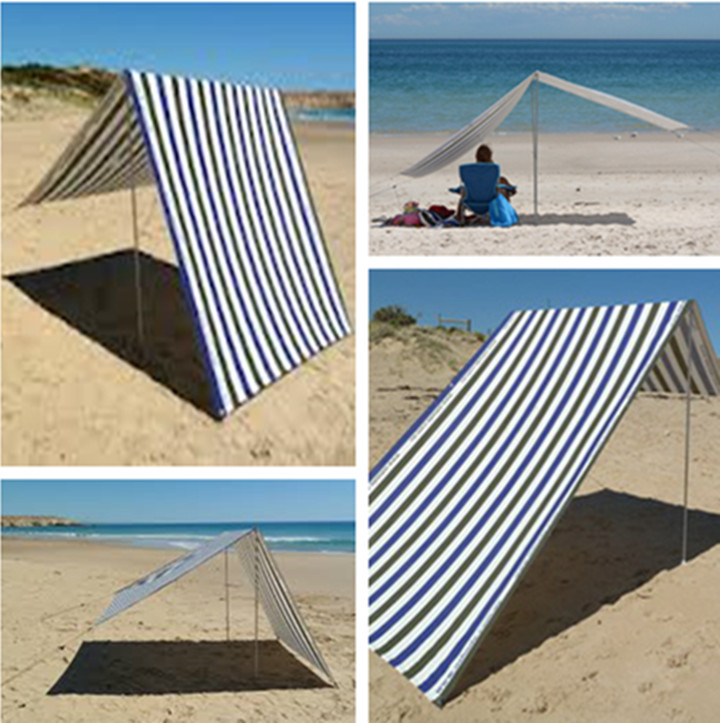 High quality Safe and realiable Colorful Beach folding beach tent for beach