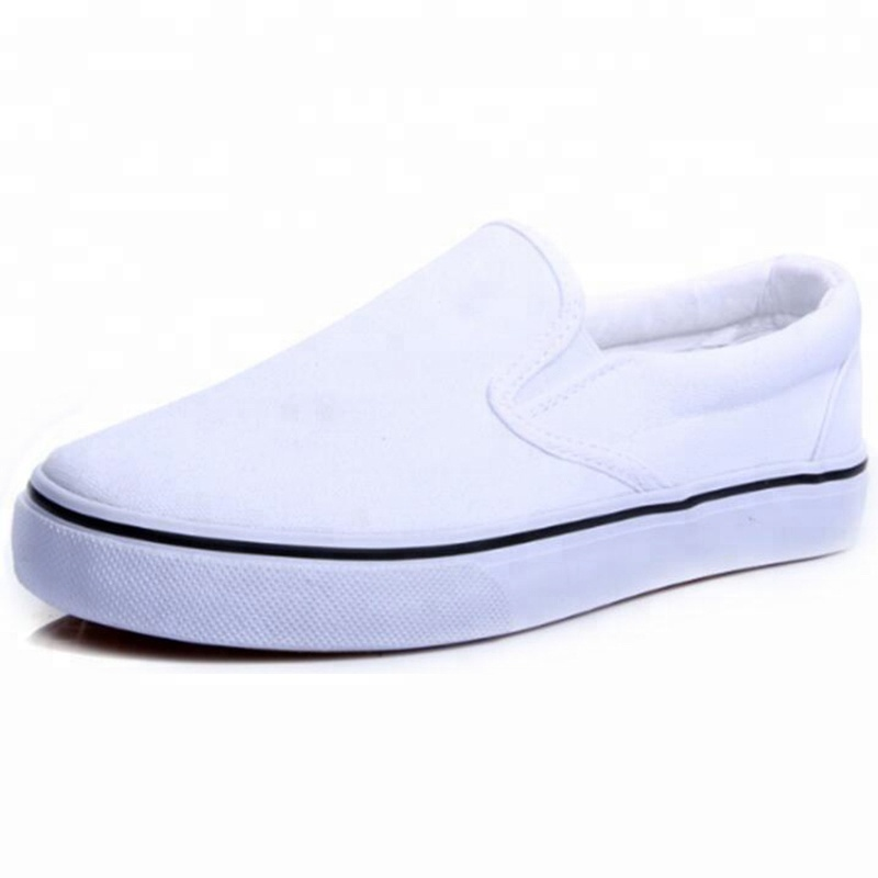 Fashion Cheap Plain White Canvas Shoes