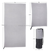 New design large beach towel with pocket with low price