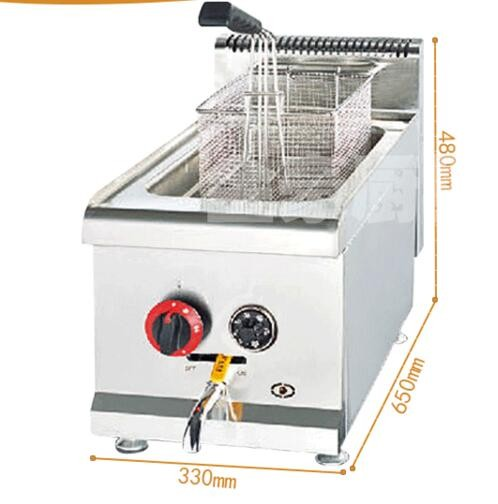 14L/ 1 Tank KFC Table Top Chicken Legs Meat Ball Potato Gas Fryer Machine