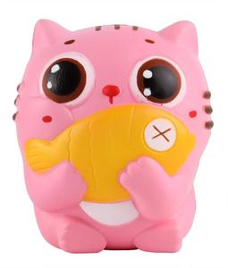 EN-71 Squishies Cat Kitten Holding Fish Slow Rising Squishies Kawaii Scented Soft Animal Toys
