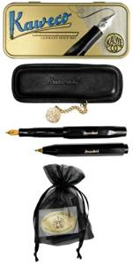 Kaweco Sport Classic Set Ballpoint / Fountain Pen EF black + case & cartridges
