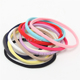 Factory Supply New Colorful Hair Bands- High Elastic soft nylon spandex hair ties
