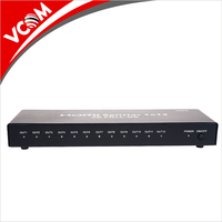 Factory Hot Selling Metal Box 12 Way Full HD 3D 4K 12 Port 2.0 HDMI Splitter 1 Input 12 Output