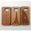 2016 hot sale beauty natural wood case for iphone 6s,custom print wood cell phone case