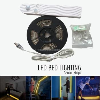 Led Bewegingssensor Bed Licht Strip Slaapkamer Licht Voor ...