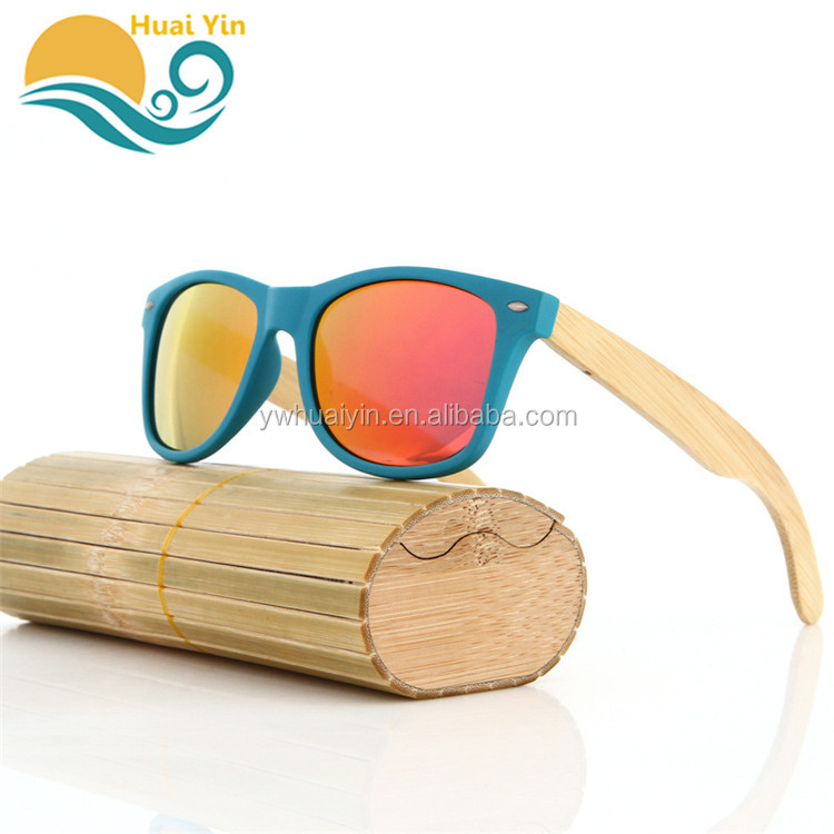 Wholesale Custom Fashion Wooden Glass PC Lens Bamboo Material Handmade Wooden Sunglasses