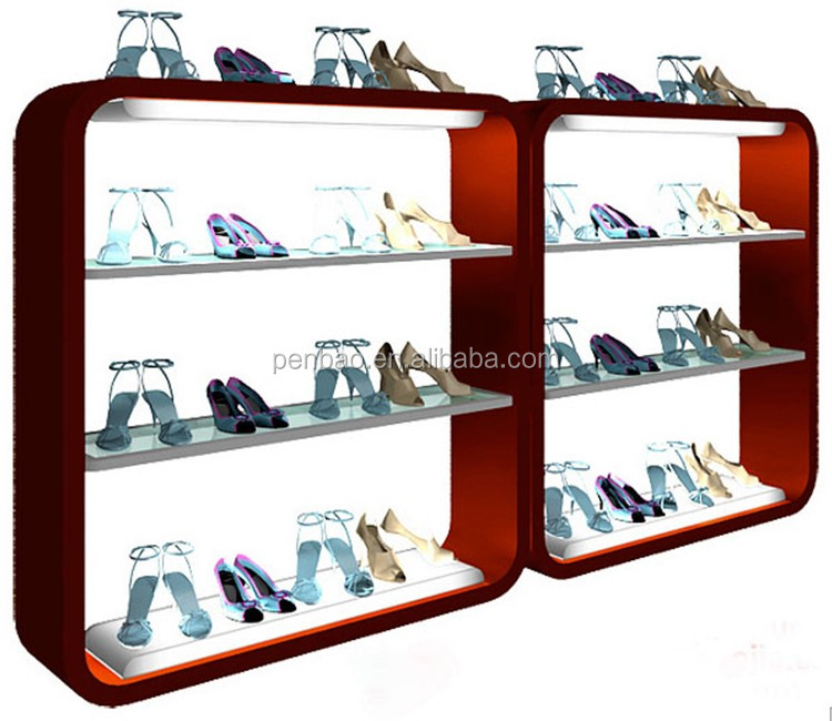 Wall mounted floor standing shoe display used shoe store for Sneaker wall display