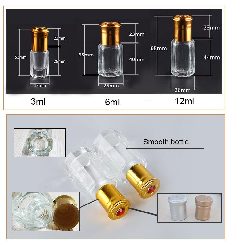 3 мл attar пустой флакон Дубаи мл 12 мл стеклянная бутылка ролл на бутылке серебро