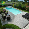 Environmentally high density swimming pool outdoor floor decking