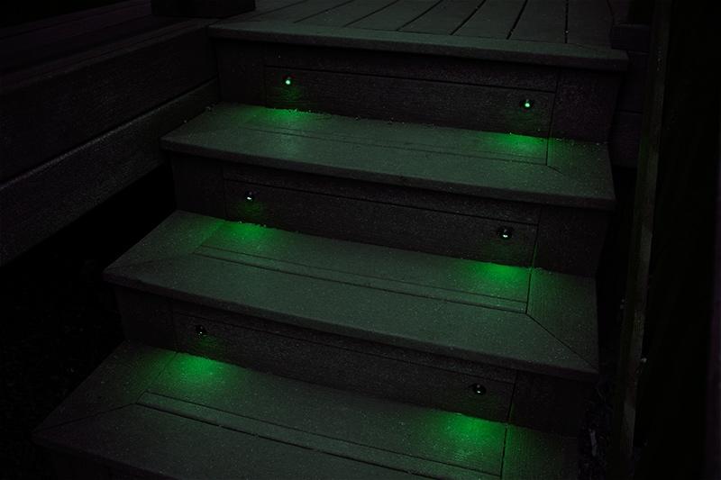 WEIKEN RGB белый синий зеленый красный излучающий цвет мини-ступенчатый светильник s/наружный LED-светильник