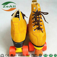 Adjustable land inline roller skate shoes suede PU poly for adult
