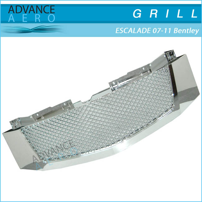 FOR 2007-2011 CADILLAC ESCALADE 3D HONEYCOMB DIAMOND MESH STYLE CHROME FRONT HOOD GRILLE