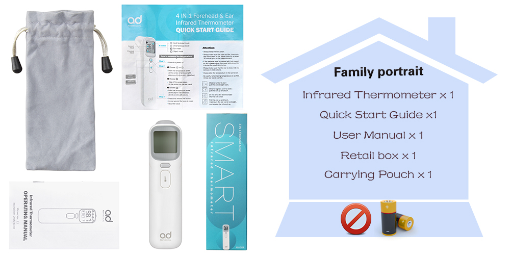 ELERA Cheap Digital Non Contact Forehead And Ear baby Thermometer Infrared Thermometer - KingCare | KingCare.net