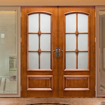 Hs Yh8053 French Entry Wood Door Gl Inserts Window Designs