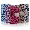 Hight quality!!!bling bling Leopard pattern leather case for iphone4 with credit card slot!!!