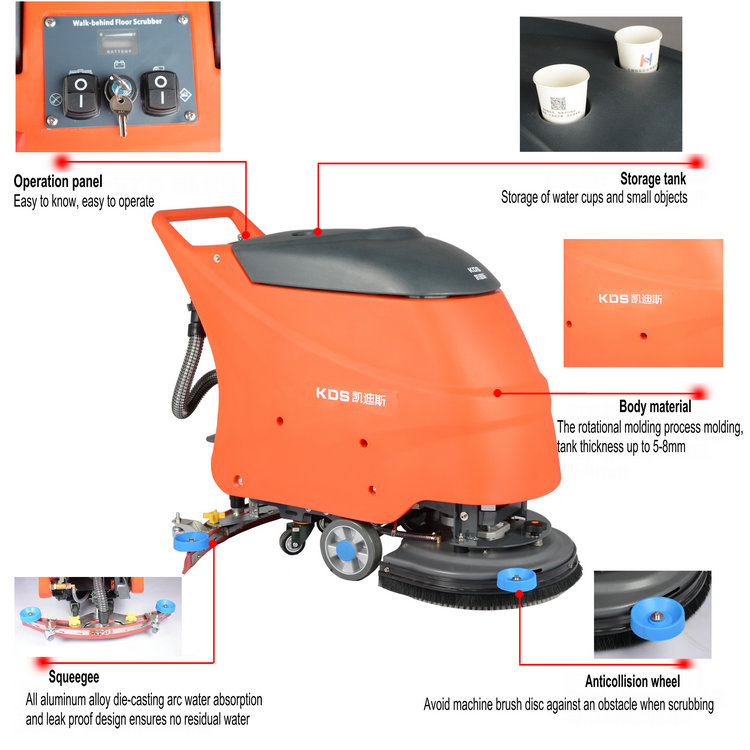 Professionele grond reinigingsmachine industriële vloer scrubber huren
