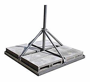 """ROHN FRM238SP5 Non-Penetrating Roof Mount - 2.38"""" OD x 0.154"""" Wall x 60"""" Mast"""